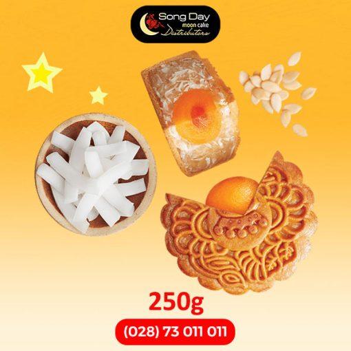 Bánh trung thu Kinh Đô Sữa dừa hạt dưa 2 trứng đặc biệt