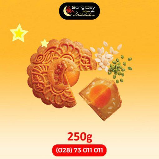 Bánh trung thu Kinh Đô Đậu xanh hạt dưa 2 trứng đặc biệt