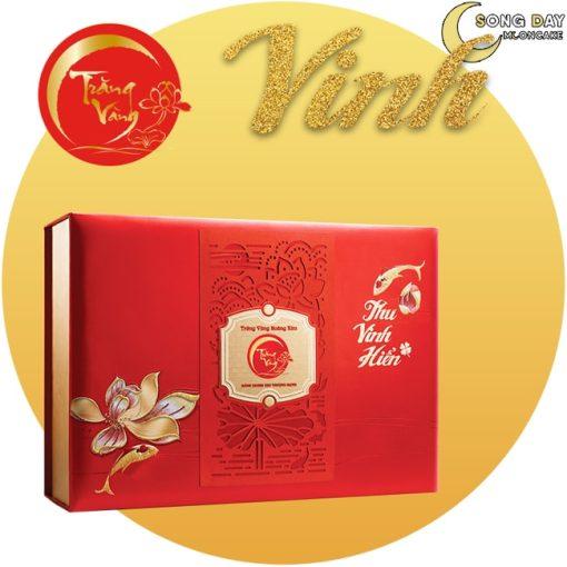 Bánh trung thu kinh đô Trăng Vàng Hoàng Kim Vinh Hiển Đỏ